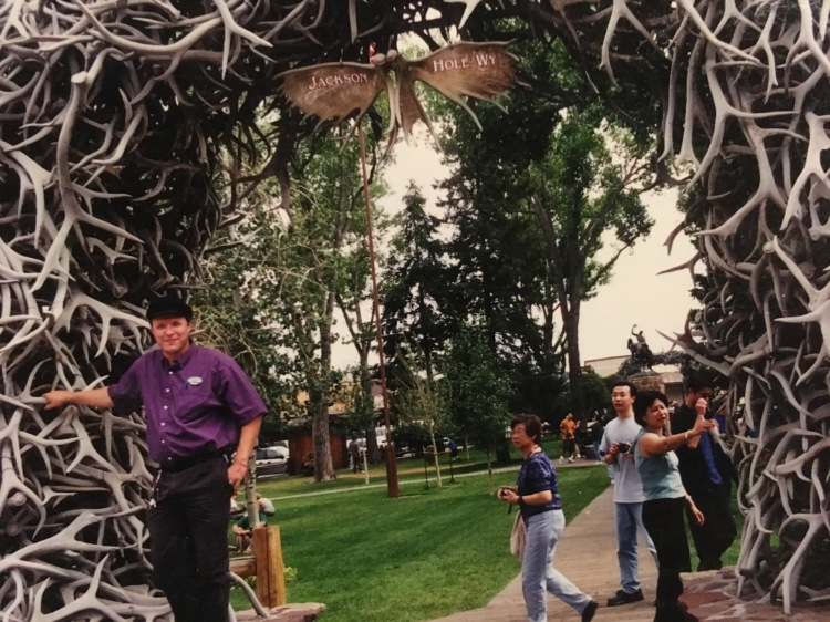 Elk horn arch at Jackson, Wyoming