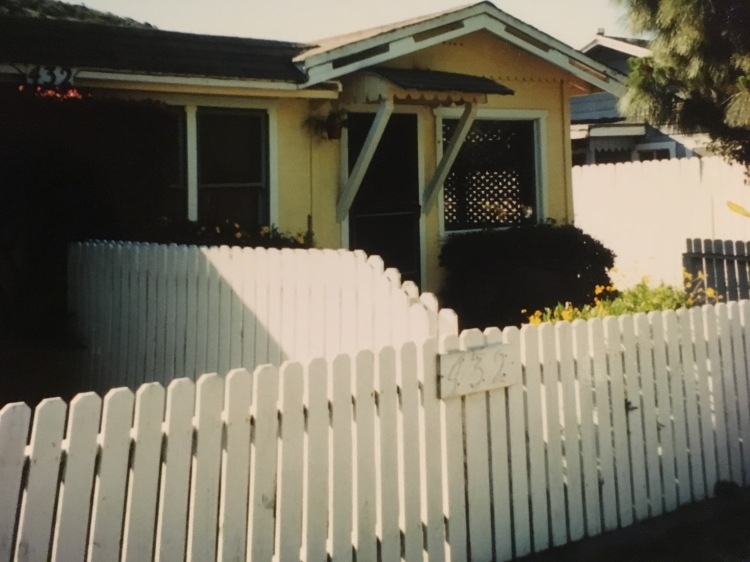 The actual bungalow apartment, 432A Old Creek Road in Cayucos where we lived in 2001 & featured in the novel. That's the actual front door mentioned prominently in a few spots.