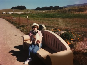 Aubray and Eloise, 2001. I think this was at the beach where the elephant seals hang out along Route 1 up by Piedras Blancas.