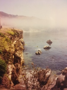 The cliffs in Pismo Beach. This is the location of a conversation between Pedro and Nadia in Act V.